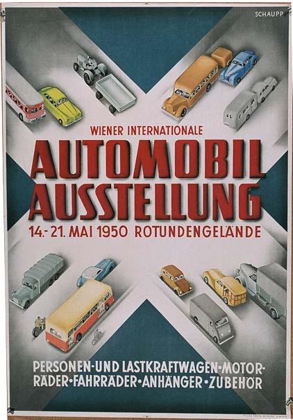 DK172 AUTOMOBIL AUSSTELLUNG 1950  VIENNA