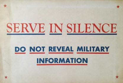 H197 SERVE IN SILENCE – DO NOT REVEAL MILITARY INFORMATION
