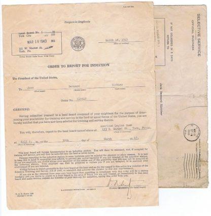 H229 1943 DRAFT NOTICE