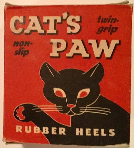 H234 CAT'S PAW RUBBER HEELS