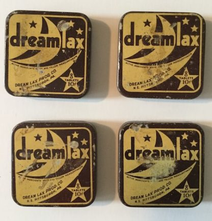 H281 DREAM LAX LAXATIVE TINS, 1940S