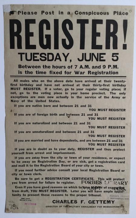 H313 REGISTER TUESDAY, JUNE 5 (1917)