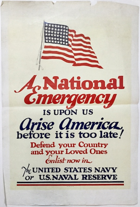 H440 A NATIONAL EMERGENCY IS UPON US - ARISE AMERICA BEFORE IT IS TOO LATE