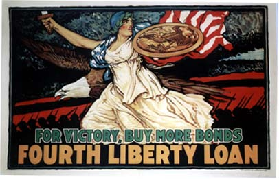 YK0749 FOR VICTORY BUY MORE BONDS - FOURTH LIBERTY LOAN