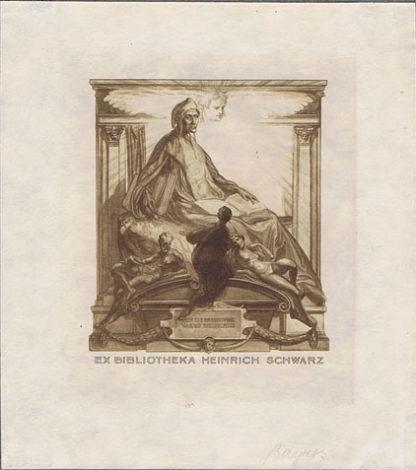 AK0463 BOOK PLATE – EX BIBLIOTHEKA HEINRICH SCHWARZ