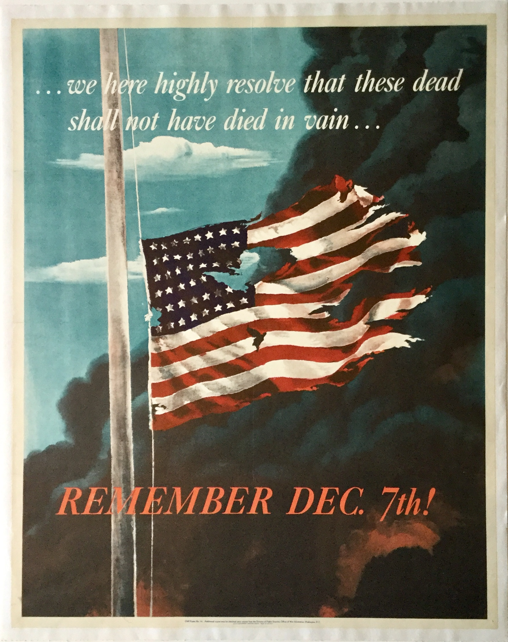 B2860 REMEMBER DEC. 7TH! ...WE HERE HIGHLY RESOLVE THAT THESE DEAD SHALL