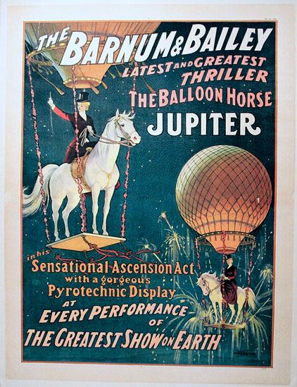 DK037 JUPITER THE BALLOON HORSE - BARNUM & BAILEY