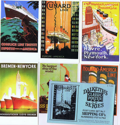 DK072 DALKEITH'S POSTER POSTCARDS: SHIPPING CO. – SET #7