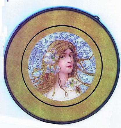 DK107 ART NOUVEAU GLASS HANGING