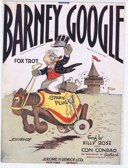 H068 BARNEY GOOGLE FOX TROT – SHEET MUSIC