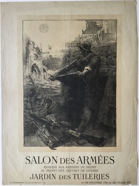 J149 SALAN DES ARMIES RESERVE ALL ARTISTS DU FRONT JARN DET ARTILLERES