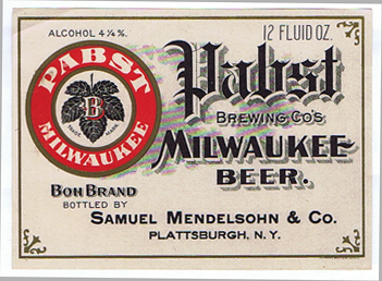 L1246 PABST MILWAUKEE BEER LABEL