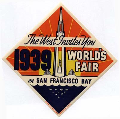 P1123 1939 WORLD'S FAIR ON SAN FRANCISCO BAY
