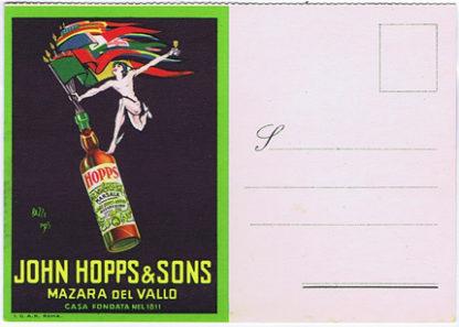 P2073 JOHN HOPPS & SONS MARSALA POST CARD