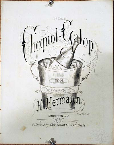 YK0017 CLICQUOT GALOP BY H. HERMAN SHEET MUSIC