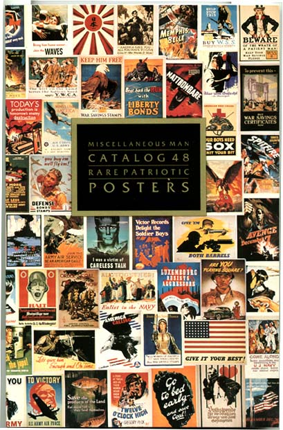 YK0030 MISCELLANEOUS MAN'S CATALOG 48: RARE PATRIOTIC POSTERS
