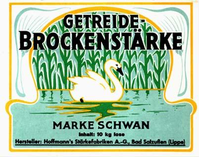 YK0037 GETREIDE BROCKENSTARKE - SWANN LAUNDRY STARCH LABEL