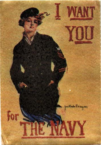YK0047 I WANT YOU FOR THE NAVY SILK POSTER MINIATURE