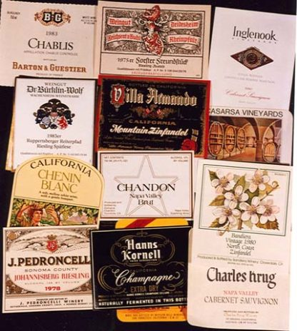 YK0538 WINE LABEL COLLECTION – 300 DIFFERENT
