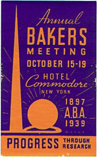 DK347 NEW YORK WORLDS FAIR ANNUAL BAKERS MEETING STAMP