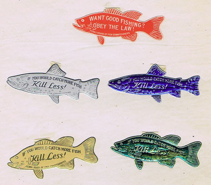 G132 IF YOU WOULD LIKE TO CATCH MORE FISH - KILL LESS!  - 5 STAMPS