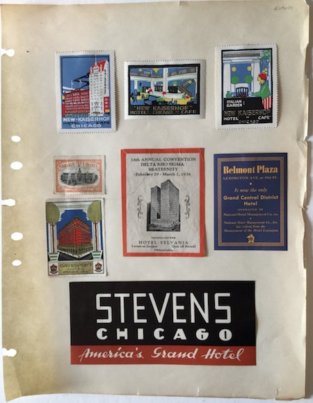 H168 Set of 8 HOTEL RELATED POSTER STAMPS