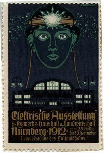 L2562 ELECTRISCHE AUSTELLUNG 1912 - NURNBERG