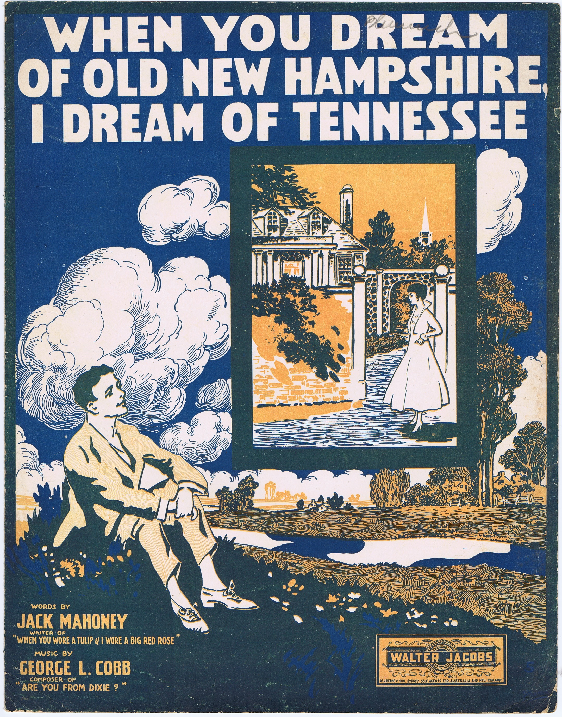 J201WHEN YOU DREAM OF OLD NEW HAMPSHIRE I DREAM OF TENNESSEE
