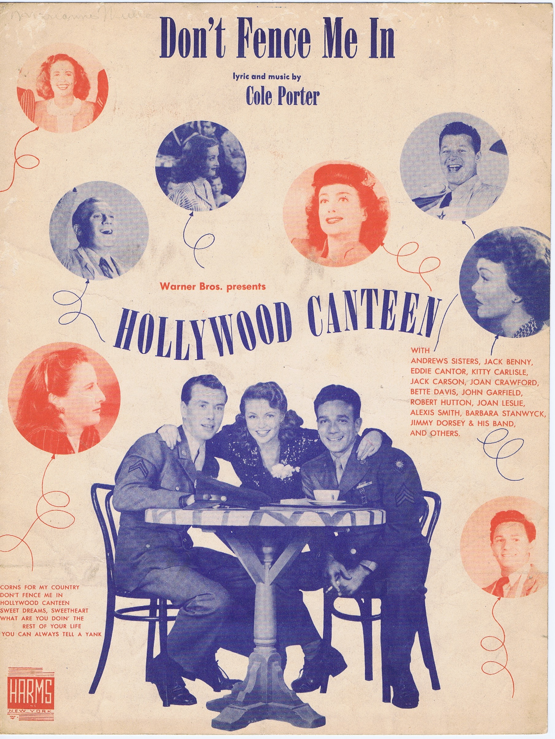 "J206	HOLLYWOOD CANTEEN - ""DON'T FENCE ME IN"""