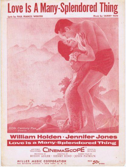 J207LOVE IS A MANY SPLENDORED THING – WILLIAM HOLDEN – JABBER JONES