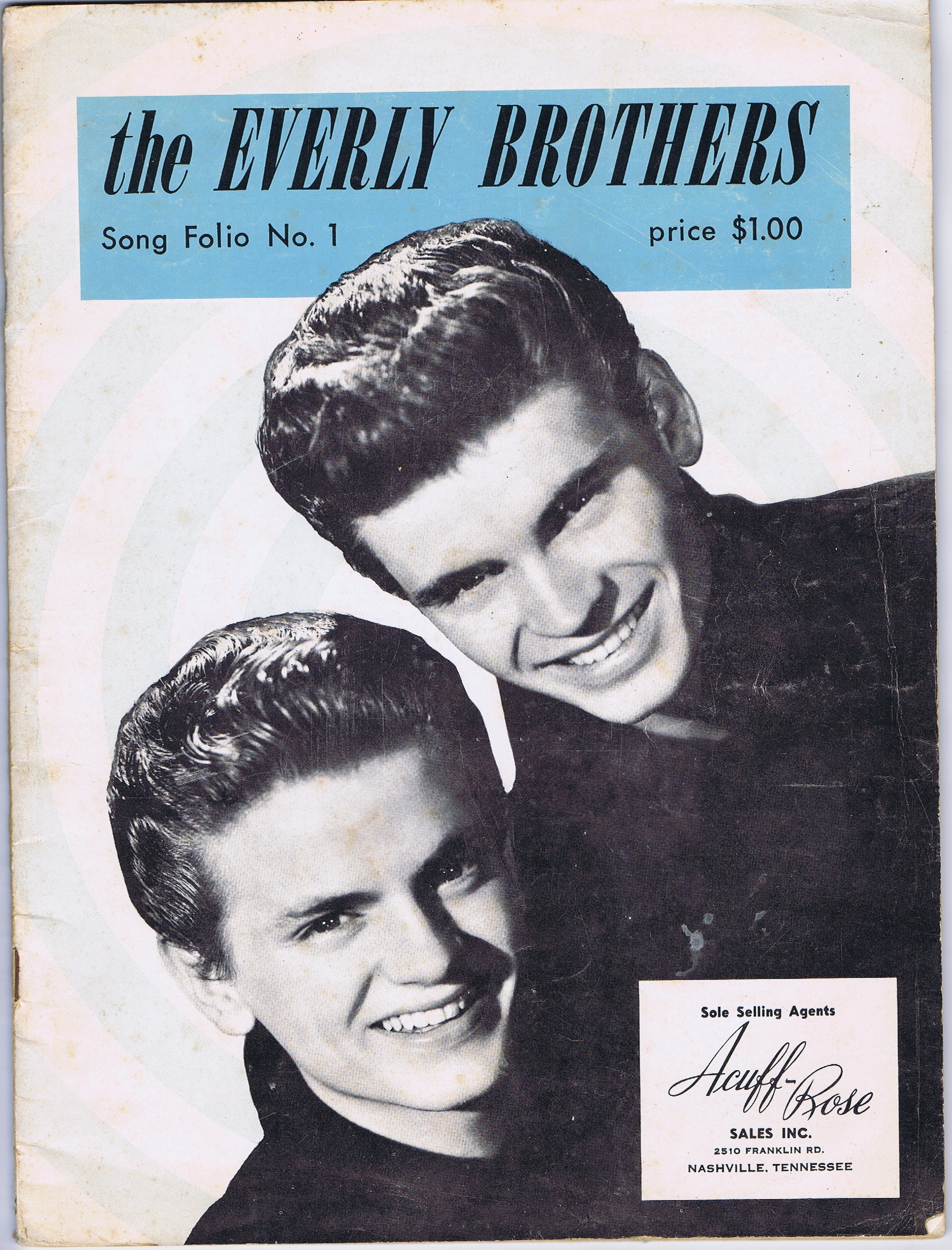 J211THE EVERLY BROTHER'S SONG FOLIO NO. 1 - ACUFF ROSE