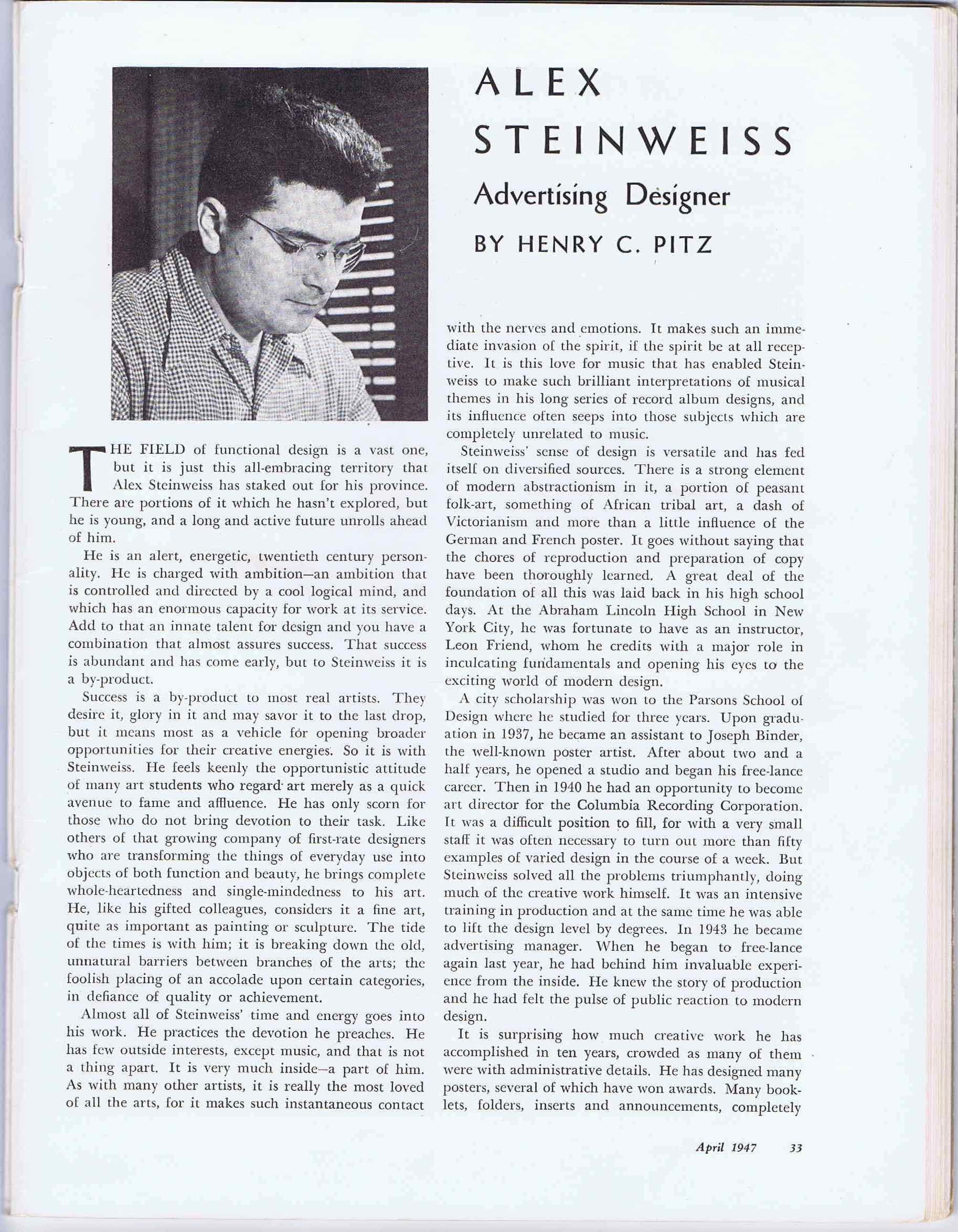J229AMERICAN ARTIST MAGAZINE 1947