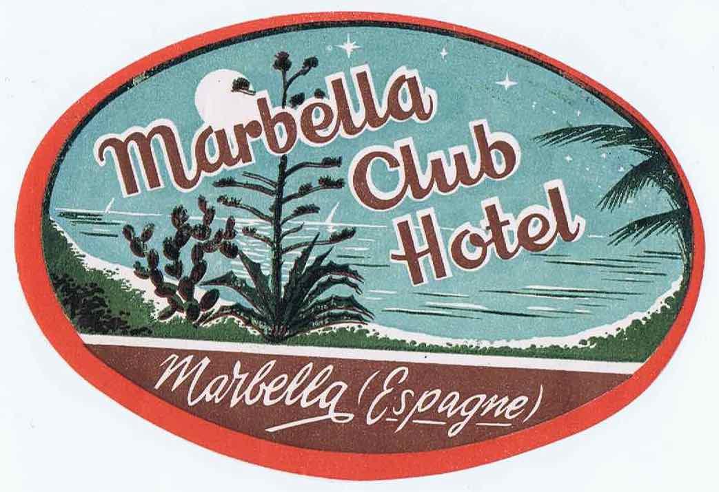 J294MARBELLA CLUB HOTEL - SPAIN 1930S