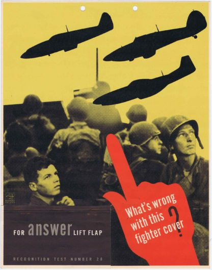 J310WHAT'S WRONG WITH THIS FIGHTER COVER? – U.S. ARMY AIR FORCE RECOGNITION POSTER