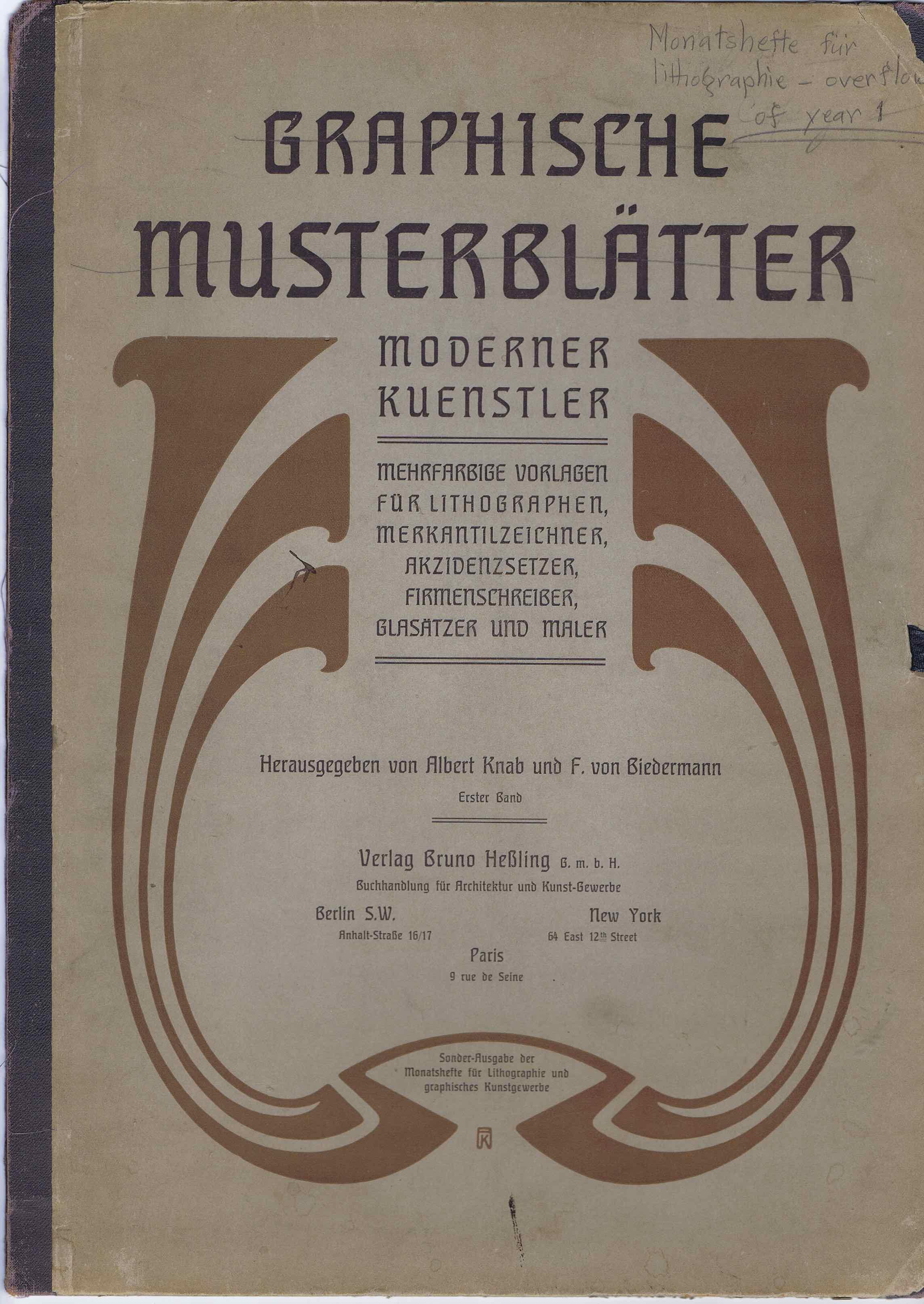J340GRAPHISCHE MUSTERBLATTER - MODERNER KUENSTLER
