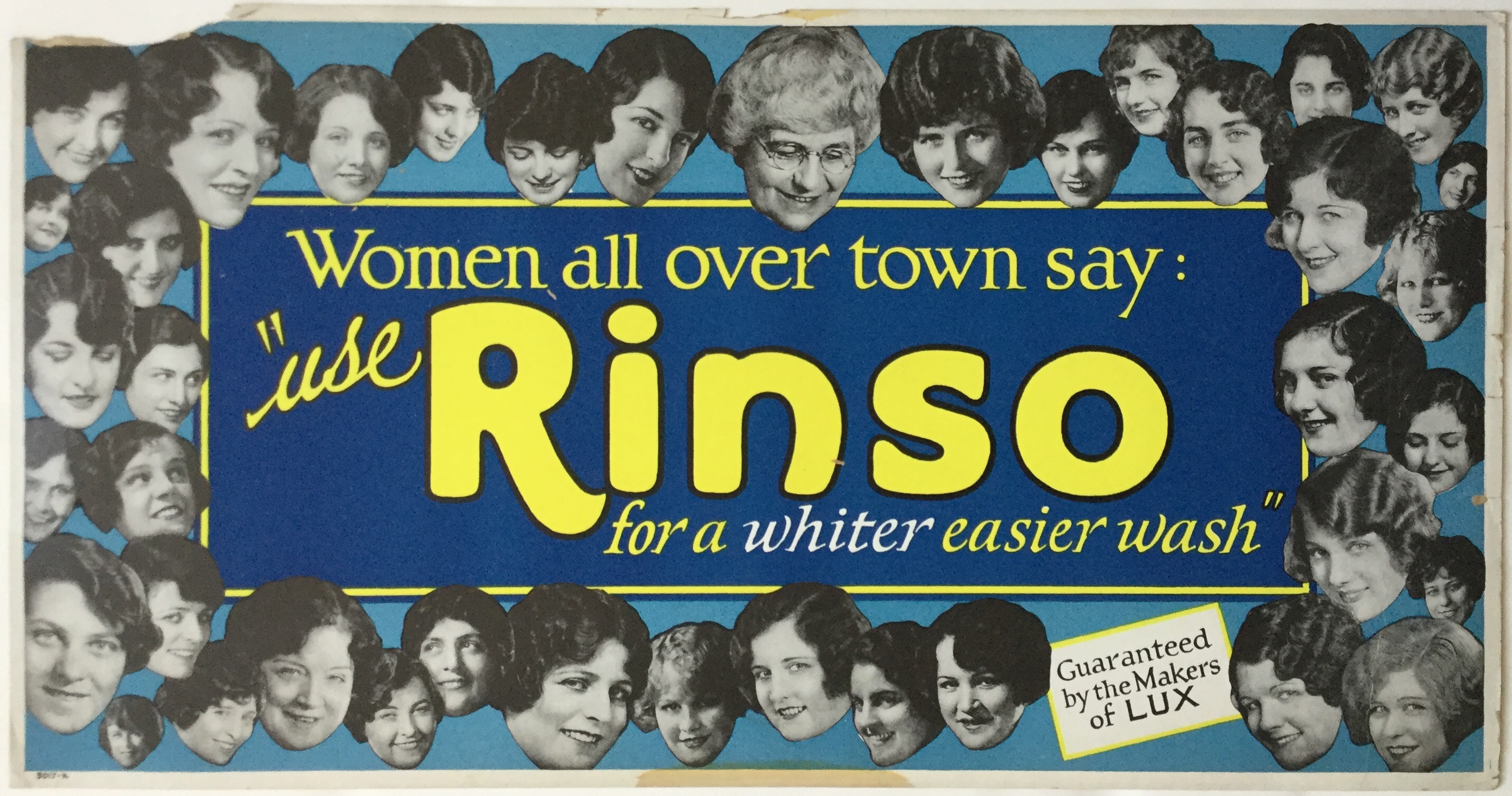 J397RINSO - WOMEN ALL OVER TOWN SAY RINSO FOR A WHITER, EASIER WASH
