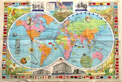 J521MCCORMICK'S SPICES MAP OF THE WORLD