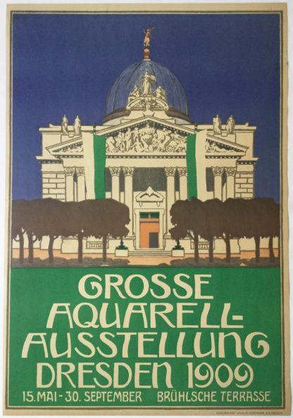 UMM034GROSSE AQUARELL AUSSTELLUNG DRESDEN 1909