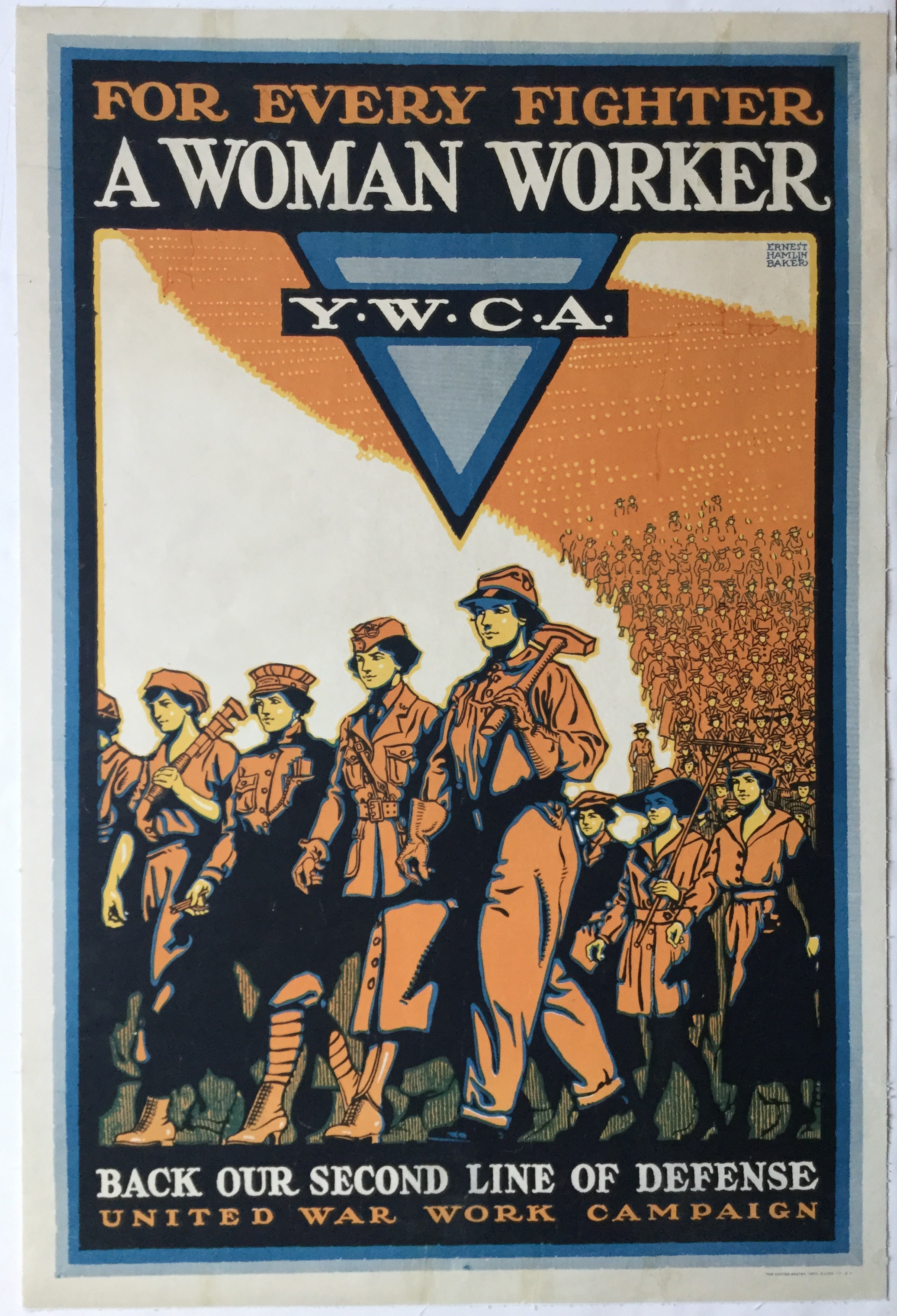 WW1245FOR EVERY FIGHTER A WOMAN WORKER - Y W C A
