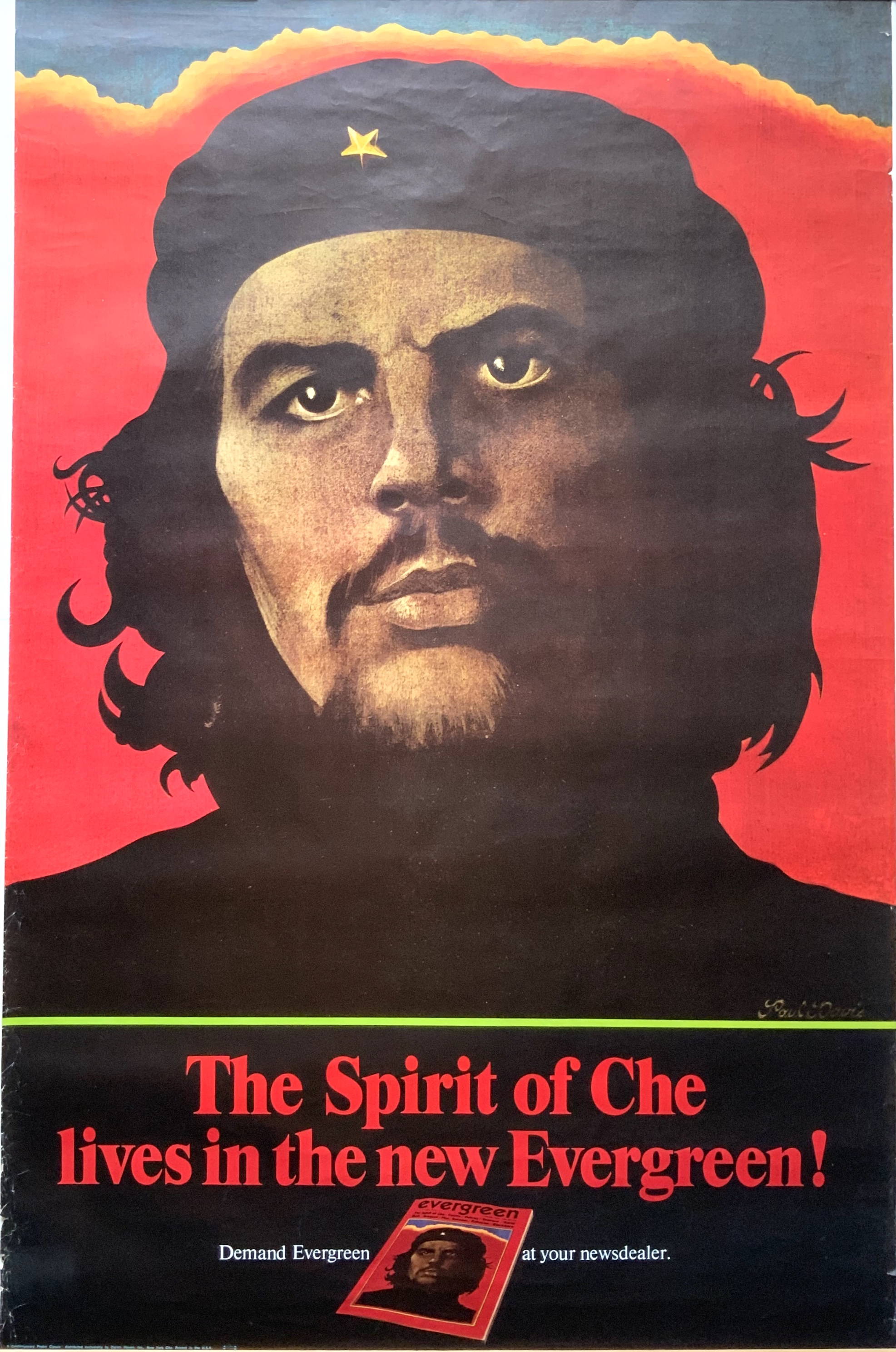 "J599	EVERGREEN MAGAZINE ""THE SPIRIT OF CHE LIVES IN THE NEW EVERGREEN"""