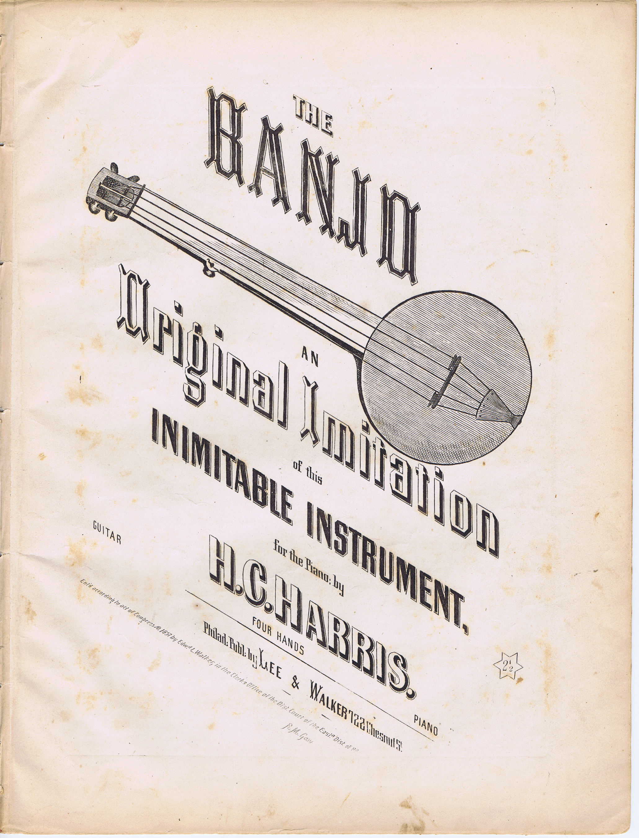 J613THE BANJO - AN ORIGINAL IMITATION OF THIS INIMITABLE INSTRUMENT FOR THE PIANO