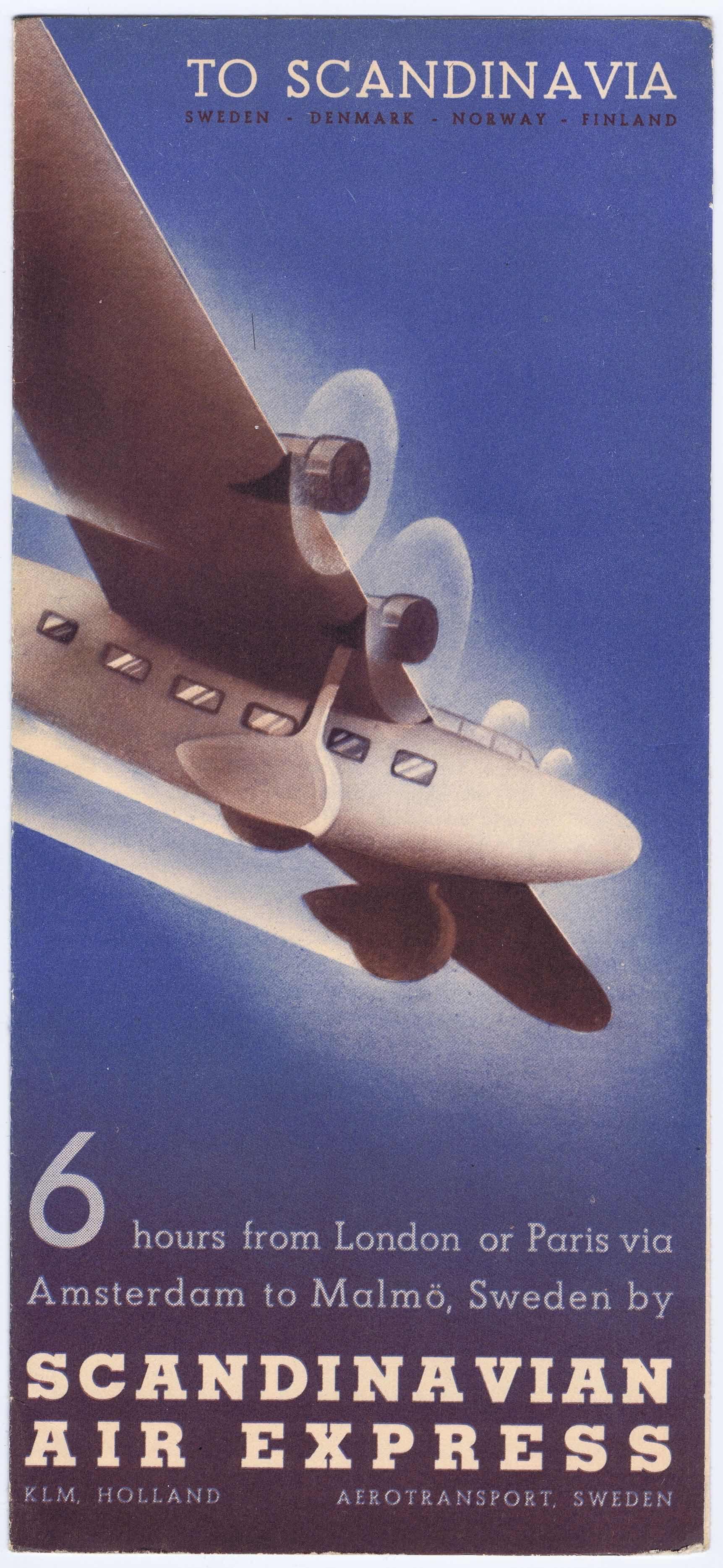 J685SCANDINAVIAN AIR EXPRESS BROCHURE