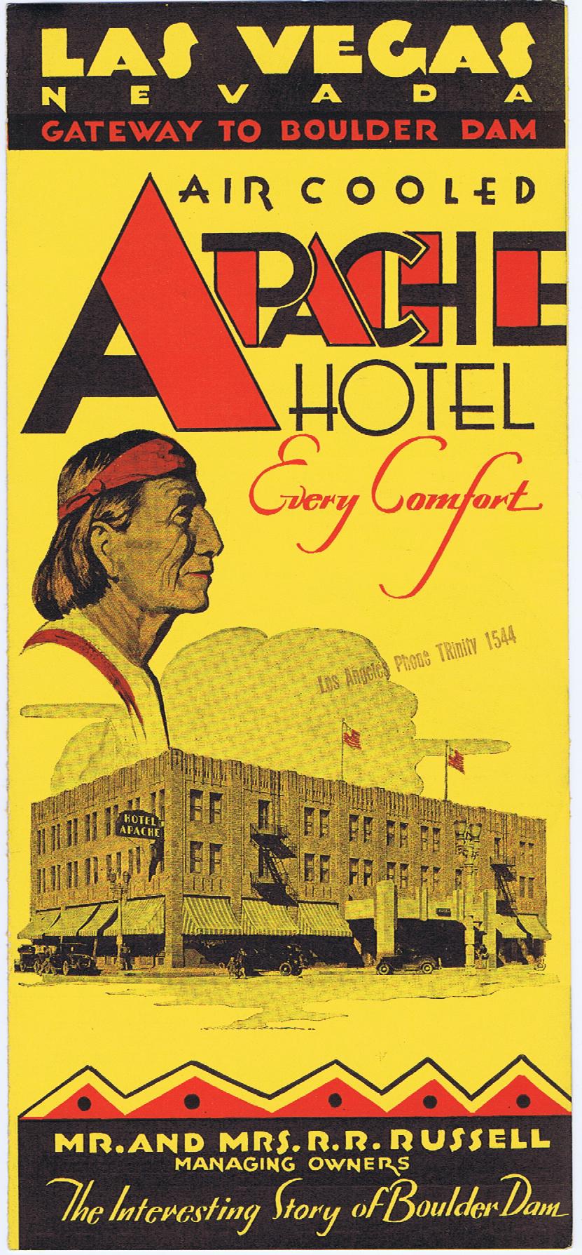 J698LAS VEGAS, NEVADA - APACHE HOTEL