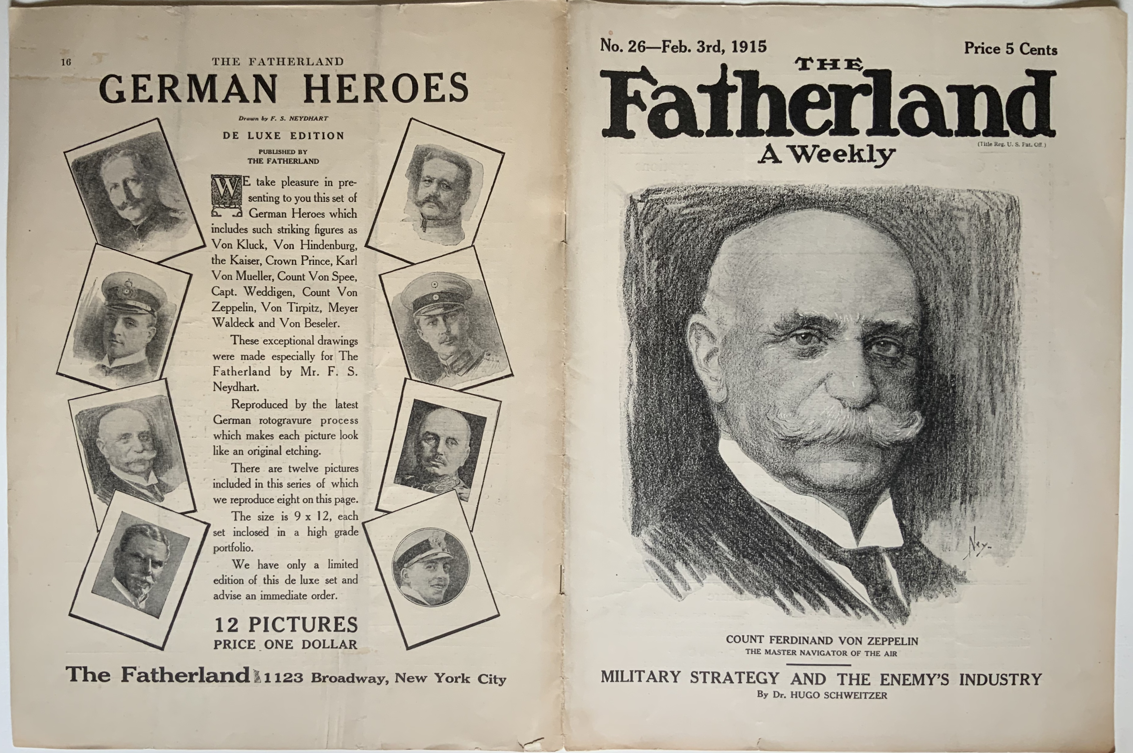 J713THE FATHERLAND WEEKLY FEBRUARY 3, 1915