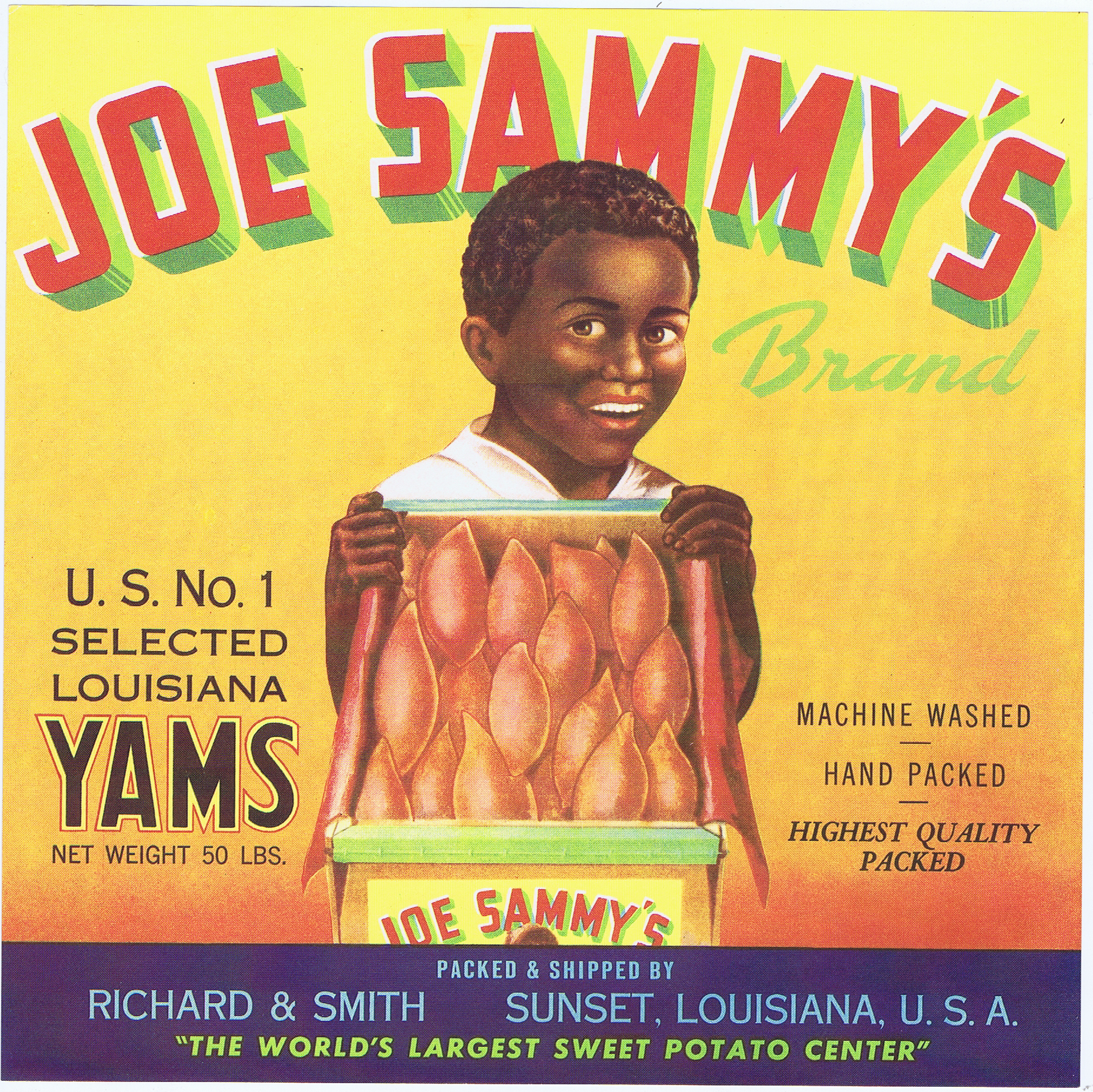 L1341JOE SAMMY'S BRAND YAMS LABEL
