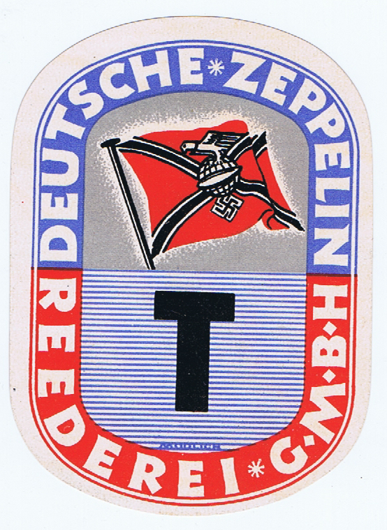 J746	ZEPPELIN TRANSFER LUGGAGE LABEL