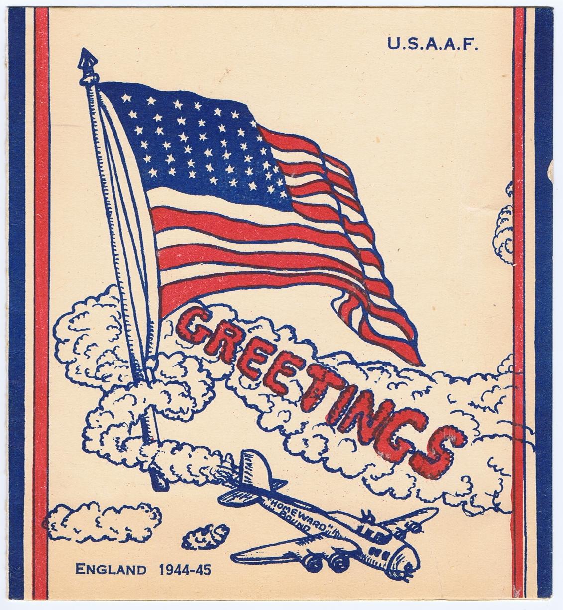 J786GREETINGS U.S.A.A.F. ENGLAND 1944-45