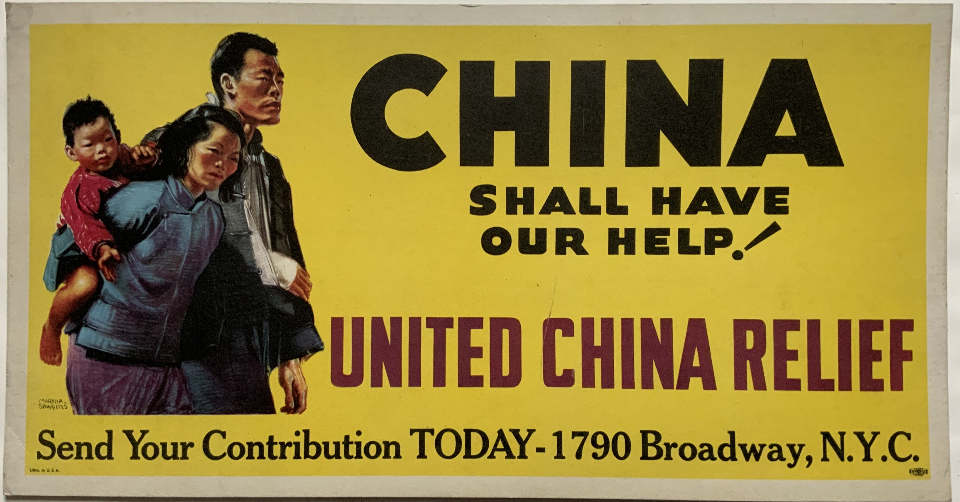 M35	CHINA SHALL HAVE OUR HELP - UNITED CHINA RELIEF - NEW YORK